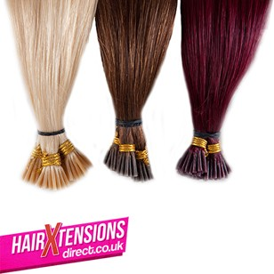 18 Inch Stick-Tip Hair Extensions (25 strands of #8 Med Brown)